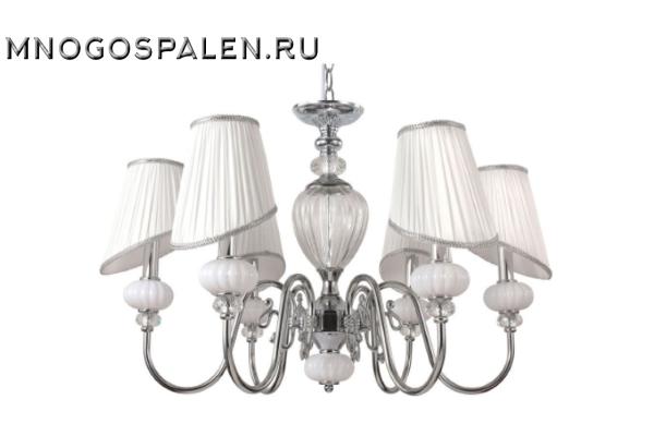 Люстра Crystal lux Alma WHITE SP-PL6 купить в салоне-студии мебели Барселона mnogospalen.ru много спален мебель Италии классические современные