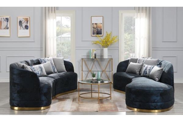 Диван Tess dark blue купить в салоне-студии мебели Барселона mnogospalen.ru много спален мебель Италии классические современные